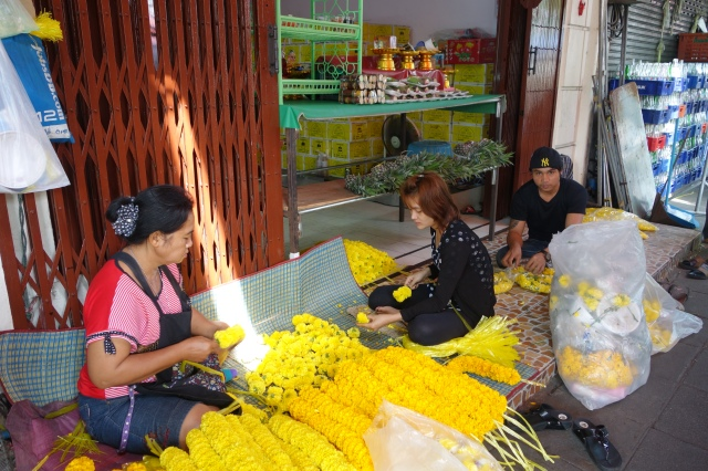 streets lined with flower vendors