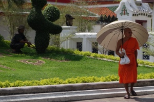 Wat Pho is residence for monks and a traditional Thai  massage school.