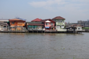 Nice houses along the river