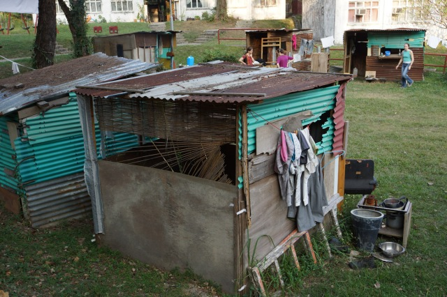 Slum dwelling constructed by CEO's for their shelter for the night