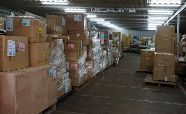 Ready to be shipped -- the first container to the Philippines left last week.