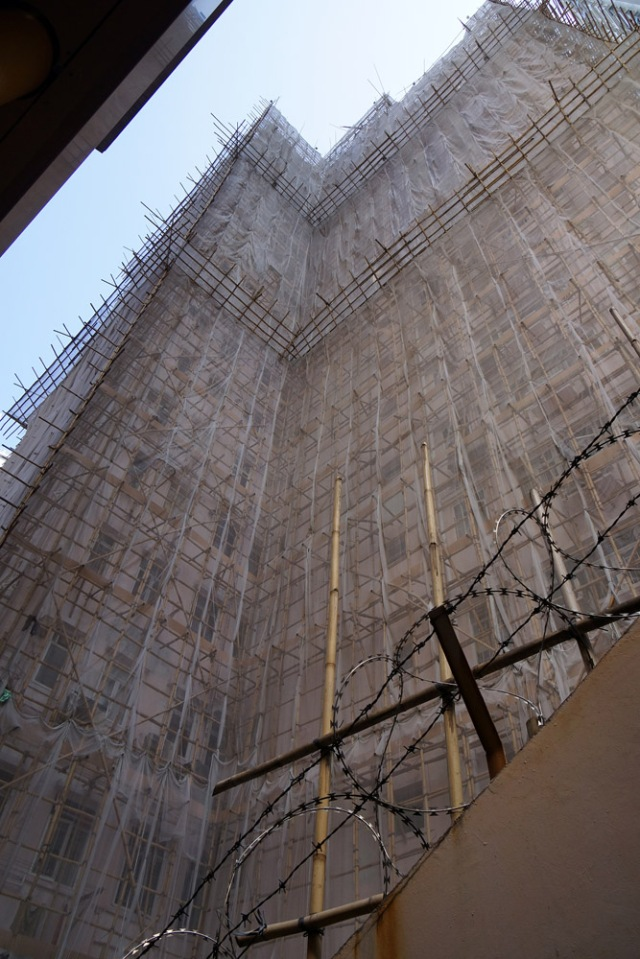 Hong Kong still uses traditional Bamboo Scaffolding to build their skyscrapers