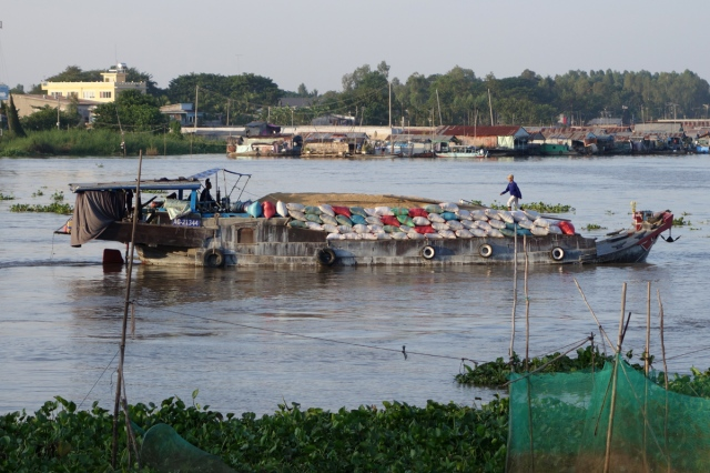 Basa River in front of our hotel in Chau Doc