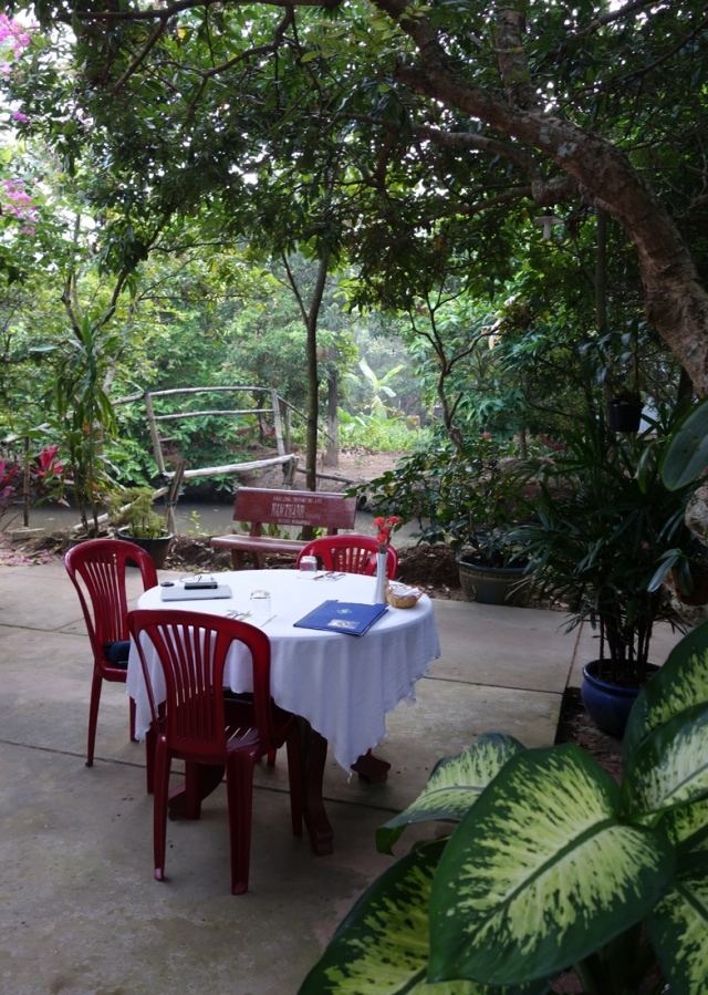Our dinner table at the homestay