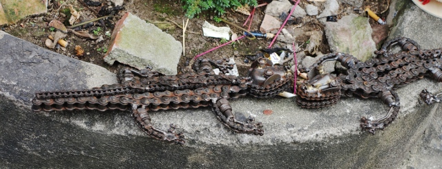 Clever Crocs from old bicycle gears -- they do recycle everything