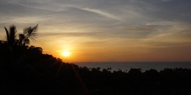 Sunset from villa