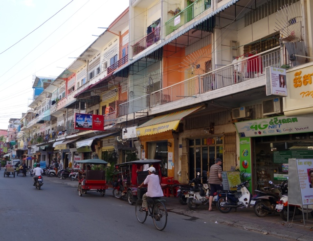 typical street in Phnom Penh