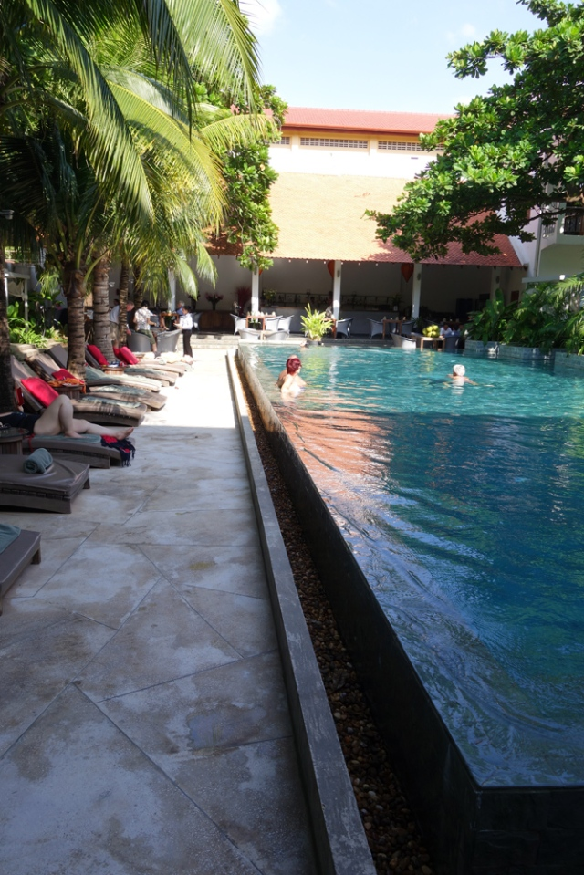 The pool was delightful after a day of sight seeing