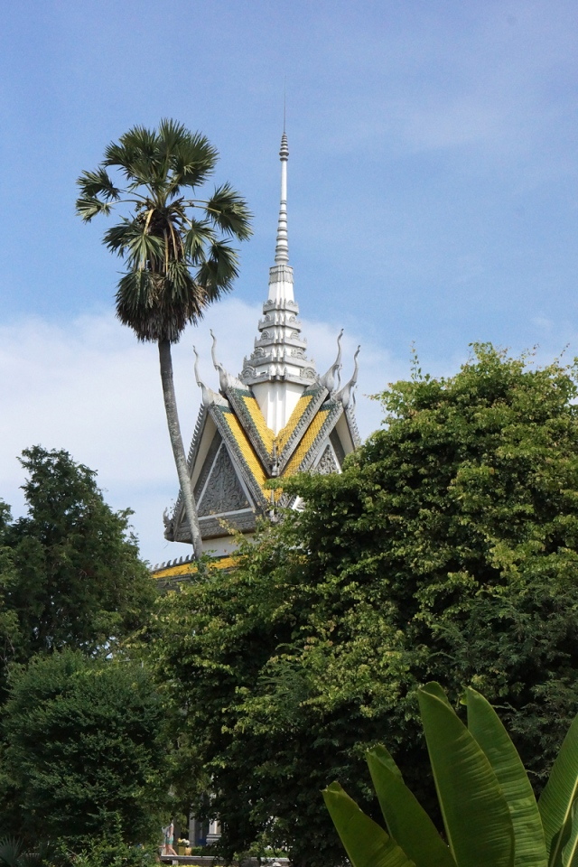 The Memorial  Stupa built at the site of the Killing Fields. . .
