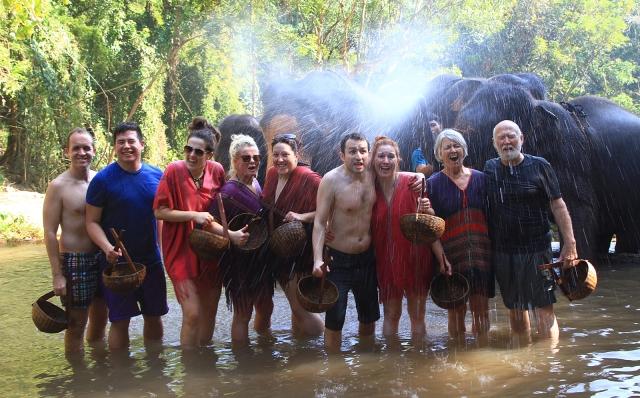 But the elephants gave us the last bath