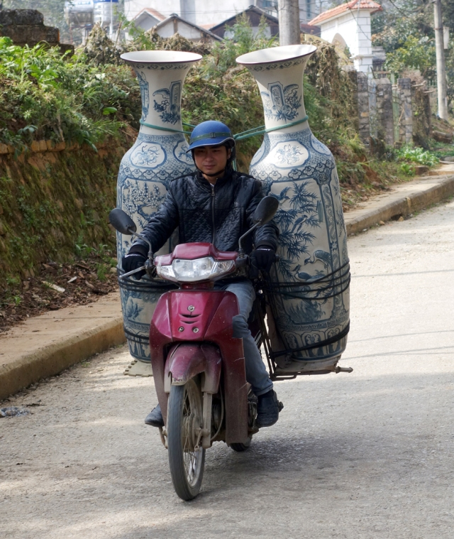 Amazing things they carry.  Janice you have the same picture.  Do you think they drive them around to us tourists to take pictures?