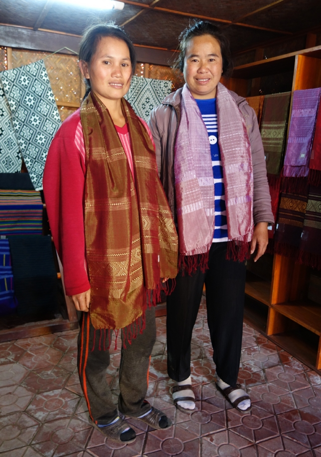 And then proceeded to buy some handwoven scarves from these two young women