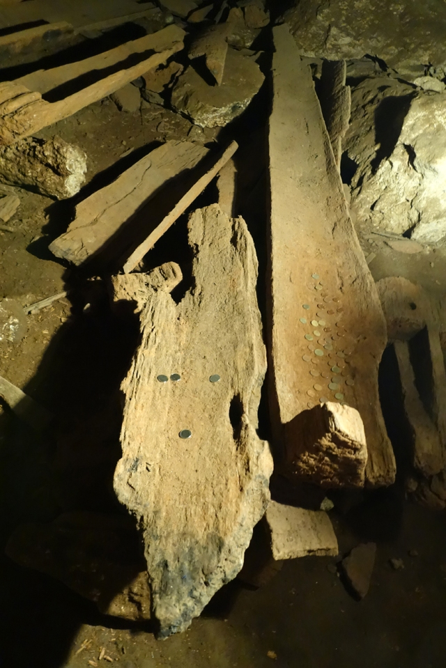 1,000 to 1,500 year old wood coffins
