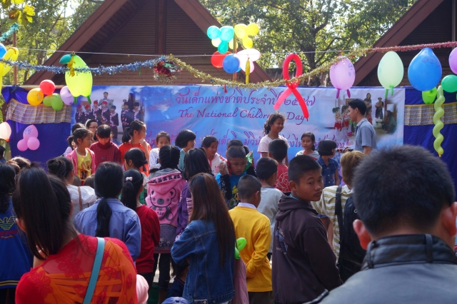 Children's Day in Thailand --we saw these Children events happening everywhere along the drive from Chiang Rai to Golden Triangle