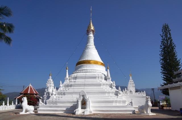 Stupa at top
