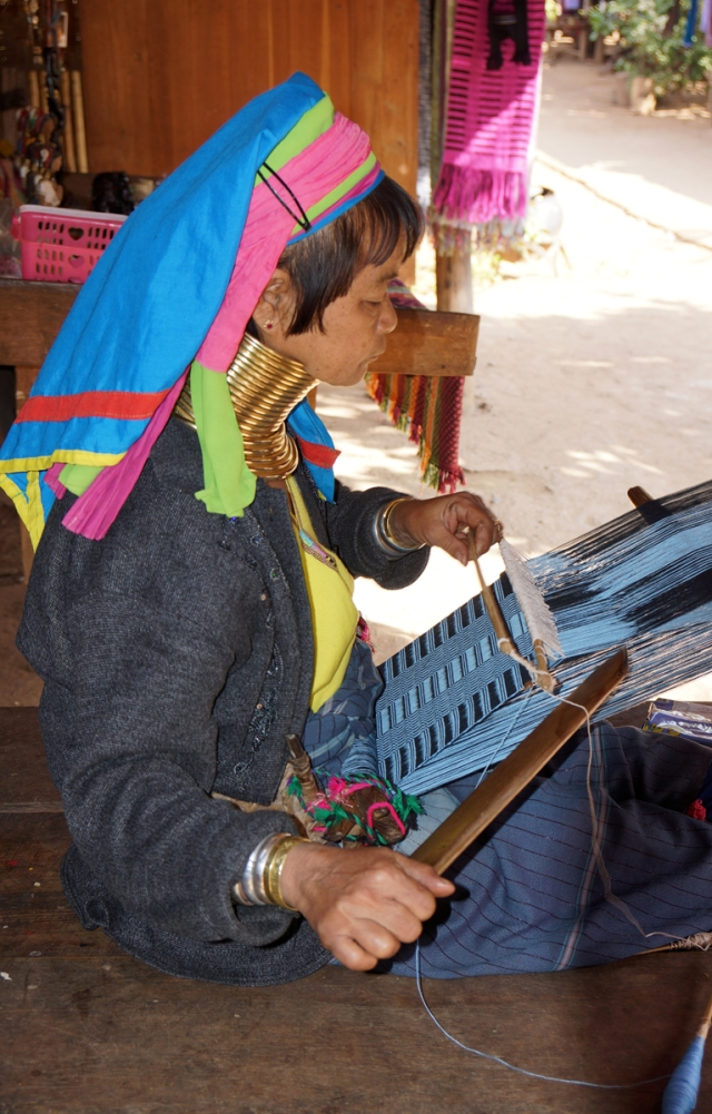 Many weavers in the village