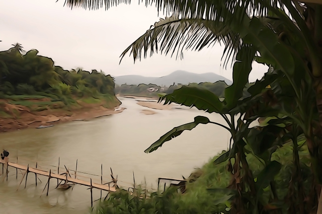 Lunch overlooking the Mekong