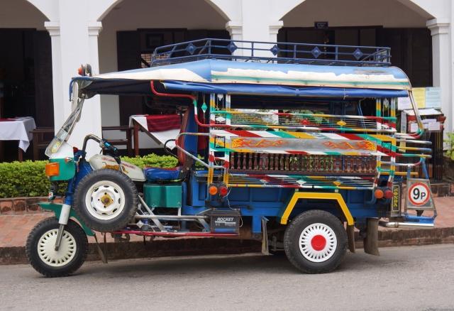 Tuk tuks in Laung Prabang